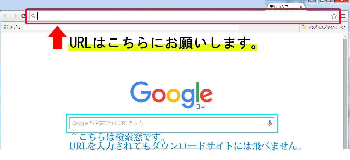 URLの場所
